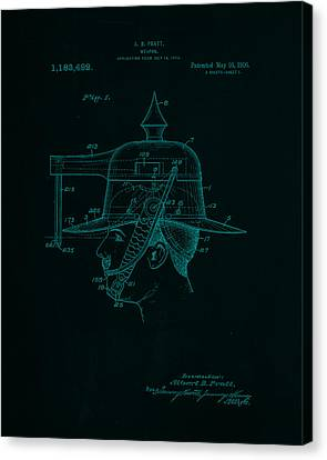 Weapon Patent Drawing 2e Canvas Print by Brian Reaves