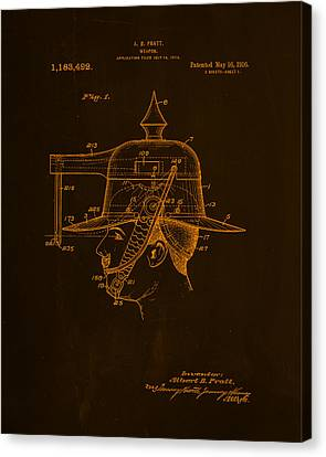 Weapon Patent Drawing 2g Canvas Print by Brian Reaves