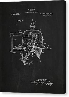 Weapon Patent Drawing 2j Canvas Print by Brian Reaves
