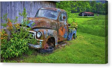 Long Bed Canvas Print - Wears Valley 1954 Gmc Wears Valley Tennessee by Reid Callaway