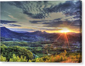 Wears Valley Tennessee Sunset Canvas Print