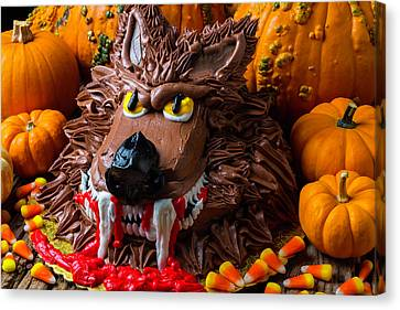 Wearwolf Cake With Pumpkins Canvas Print by Garry Gay