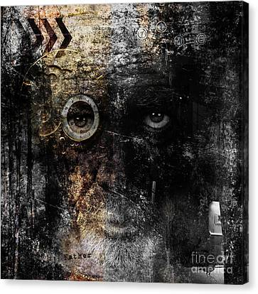 Canvas Print featuring the digital art Weary by Nola Lee Kelsey