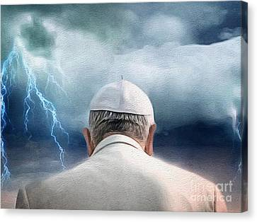 Weather The Storm Canvas Print by Amy Cicconi