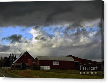 Weather Threatening The Farm Canvas Print by Clayton Bruster
