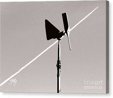 Canvas Print featuring the photograph Weather Vane by Linda Hollis
