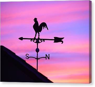 Canvas Print featuring the digital art Weather Vane, Wendel's Cock by Jana Russon
