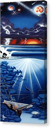 Weather Your Storms Canvas Print by Michael  Brindley