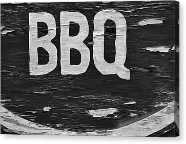 Weathered Bbq Sign Canvas Print by Robert Ullmann