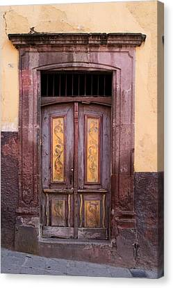 Weathered Door Canvas Print by Carol Leigh