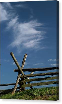 Weathered Fence Canvas Print by Judi Quelland