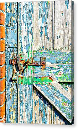 Weathered Gate Canvas Print by Tom Gowanlock