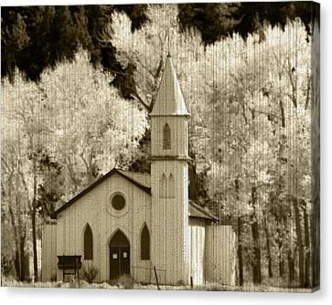 Weathered House Of Worship Canvas Print