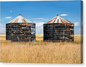 Weathered Old Bins Canvas Print