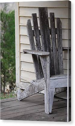Canvas Print featuring the photograph Weathered Porch Chair by Debbie Karnes