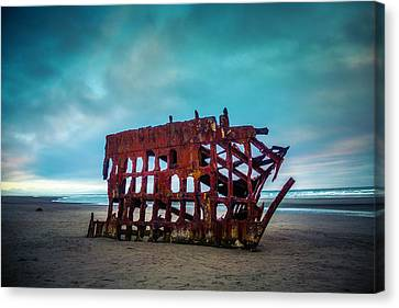 Fort Stevens State Park Canvas Print - Weathered Rusting Shipwreck by Garry Gay