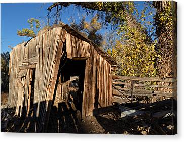 Kathleen Canvas Print - Weathered Shed In The Desert by Kathleen Bishop