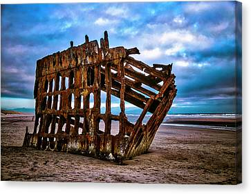 Fort Stevens State Park Canvas Print - Weathered Shipwreck by Garry Gay