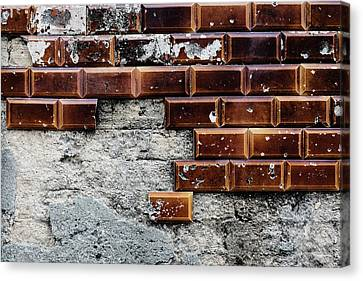 Weathered Tile Wall Canvas Print