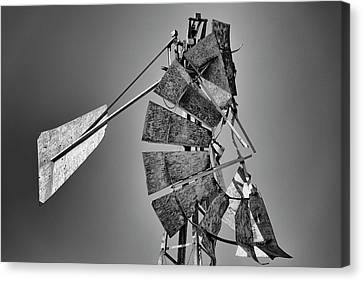 Wind Turbines Canvas Print - Weathered Vane by Stephen Stookey