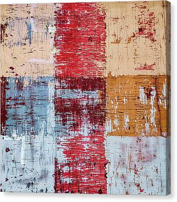 Weathered Wood Colorful Crossing 1 Of 3 Canvas Print by Carol Leigh