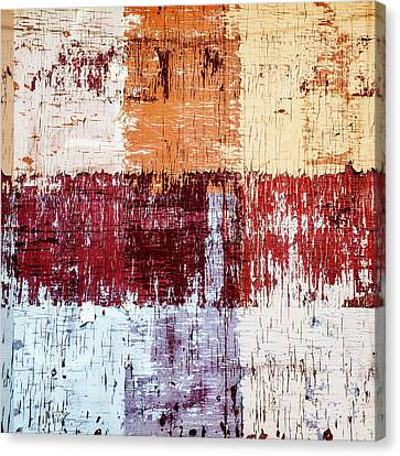 Weathered Wood Colorful Crossing 3 Of 3 Canvas Print by Carol Leigh