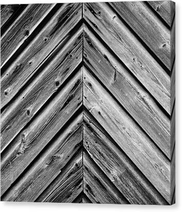 Weathered Wood Canvas Print by Larry Carr