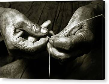 Weavers Hands Canvas Print by John Hix