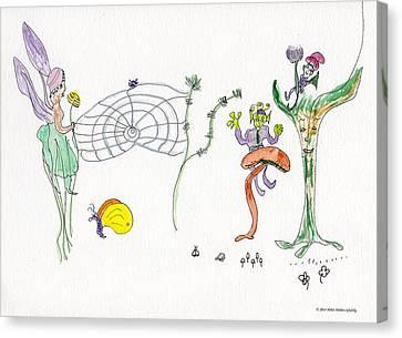 Web Faeries Canvas Print
