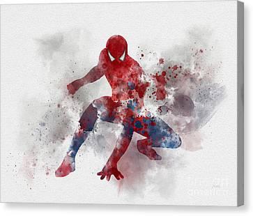 Web Head Canvas Print by Rebecca Jenkins