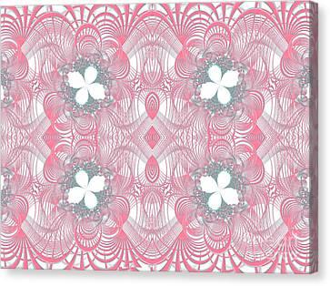 Web Of Threads 1 Canvas Print by Ganesh Barad