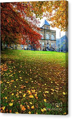 Webster County Courthouse Autumn Canvas Print by Thomas R Fletcher