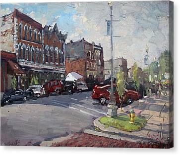 Webster Street North Tonawanda Canvas Print