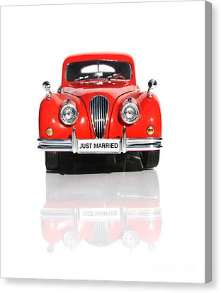 Nuptials Canvas Print - Wedding Car by Jorgo Photography - Wall Art Gallery