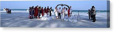 Wedding Complete Panoramic Kenya Beach Canvas Print