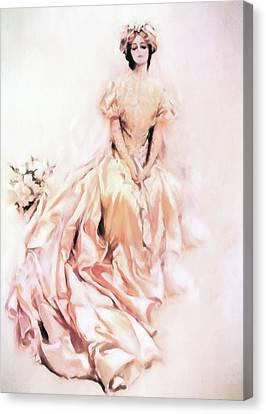 Wedding Day Romance Canvas Print by Georgiana Romanovna