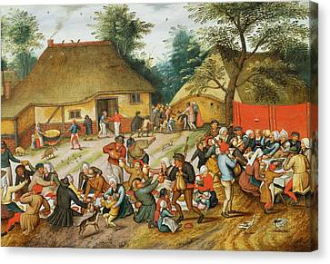 Bruegel Canvas Print - Wedding Feast by Pieter the Younger Brueghel