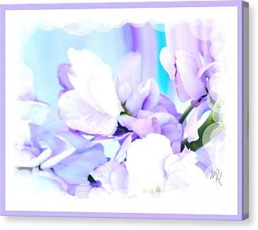 Wedding Flower Pedals Canvas Print by Marsha Heiken