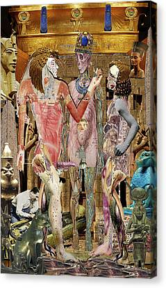 Hathor Canvas Print - Wedding In Luxor by Doug Duffey