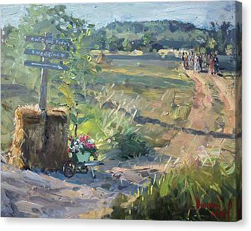 Wedding In The Farm Grorgetown  Canvas Print by Ylli Haruni
