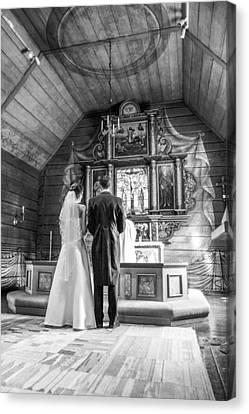 Wedding Canvas Print by Jimmy Karlsson