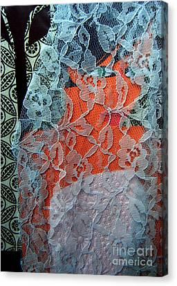 Wedding Mask Canvas Print by Debra Bretton Robinson