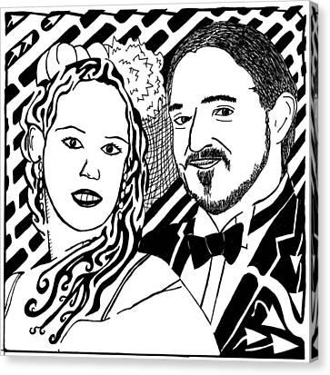 Wedding Maze Canvas Print by Yonatan Frimer Maze Artist