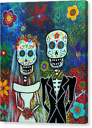 Wedding Muertos Canvas Print by Pristine Cartera Turkus