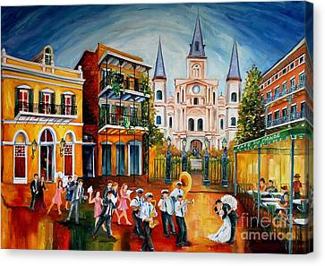 St.louis Cathedral Canvas Print - Wedding New Orleans' Style by Diane Millsap
