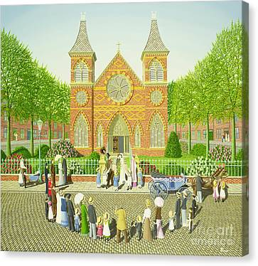 Nuptials Canvas Print - Wedding Ring by Peter Szumowski