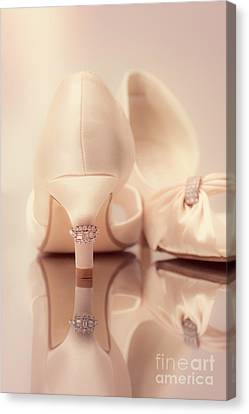 Wedding Sandals Canvas Print by Amanda Elwell