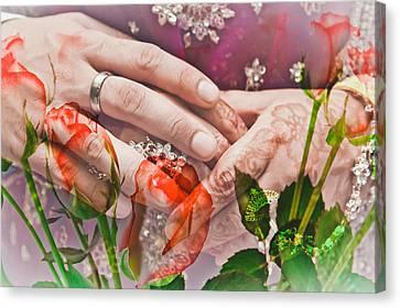 Wedding  Canvas Print by Tom Gowanlock