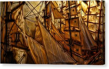 Wee Sails Canvas Print by Cameron Wood