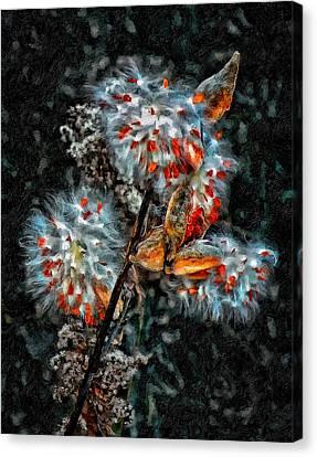 Weed Galaxy Painted Version  Canvas Print by Steve Harrington
